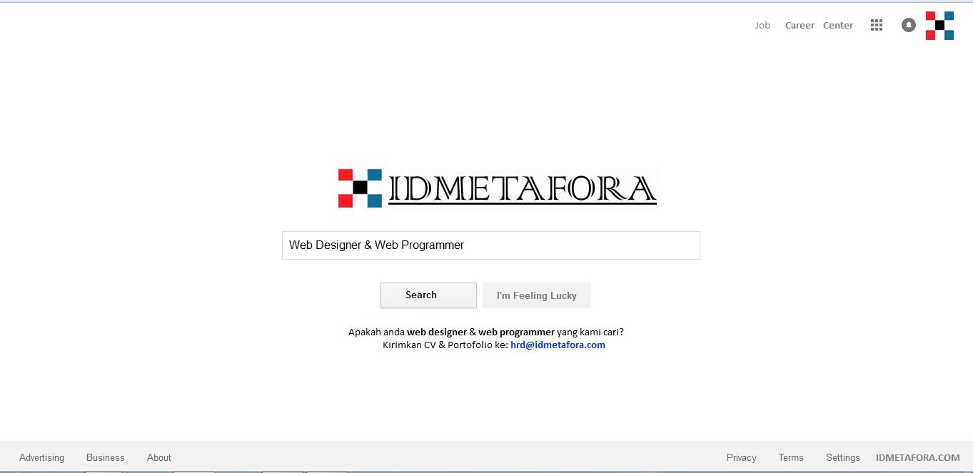 Lowongan Pekerjaan Web Designer dan Web Programmer di IDMETAFORA.COM - Metafora Indonesia Technology